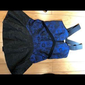 Color block party dress